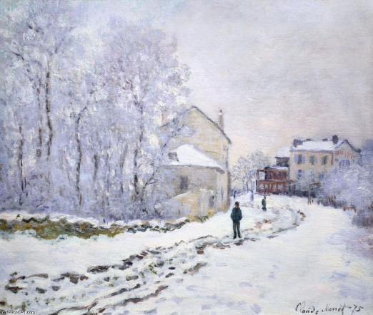 Neve ad Argenteuil di Claude Monet 2